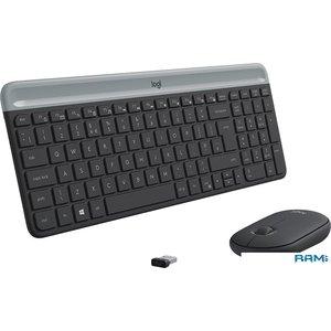 Клавиатура + мышь Logitech MK470 Slim Wireless Combo [920-009206]