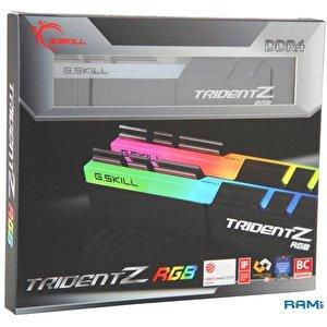 Оперативная память G.Skill Trident Z RGB 2x32GB DDR4 PC4-28800 F4-3600C18D-64GTZR