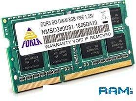 Оперативная память Neo Forza 4GB DDR3 SODIMM PC3-12800 NMSO340C81-1600DA10