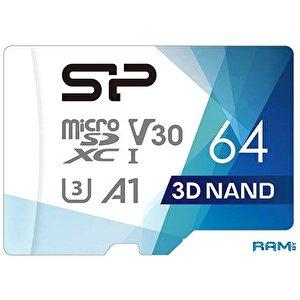 Карта памяти Silicon-Power Superior Pro microSDXC SP064GBSTXDU3V20AB 64GB (с адаптером)