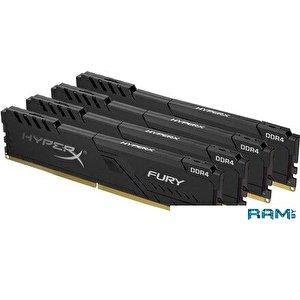 Оперативная память HyperX Fury 4x16GB DDR4 PC4-28800 HX436C17FB3K4/64