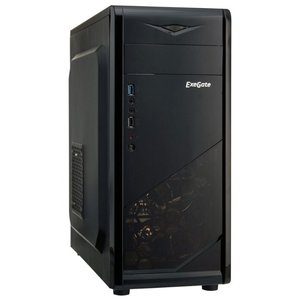 Корпус Exegate EVO-8205 Black-Blue light (EX277189RUS)