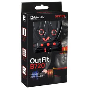 Наушники с микрофоном Defender OutFit B720 (черный/красный)