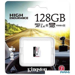 Карта памяти Kingston High Endurance microSDXC 128GB