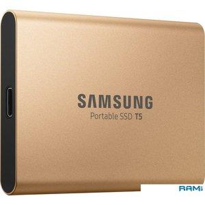 Внешний накопитель Samsung T5 500GB (розовое золото) [MU-PA500G]
