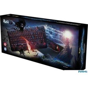 Клавиатура + мышь с ковриком SmartBuy Rush Thunderstorm [SBC-715714G-K]
