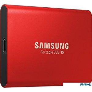 Внешний накопитель Samsung T5 500GB (красный)