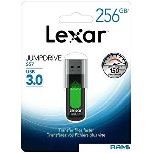 USB Flash Lexar JumpDrive S57 256GB (зеленый)