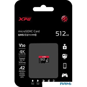 Карта памяти A-Data XPG microSDXC AUSDX512GUI3XPGA2-R 512GB