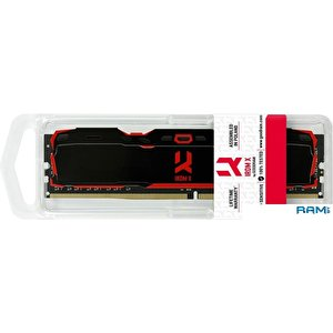Оперативная память GOODRAM IRDM X 2x4GB DDR4 PC4-25600 IR-X3200D464L16S/8GDC