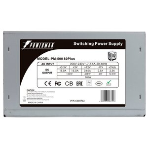 Блок питания POWERMAN  PM-500ATX APFC 80+ [6118742]