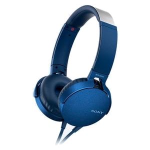 Наушники с микрофоном Sony MDR-XB550AP (синий)