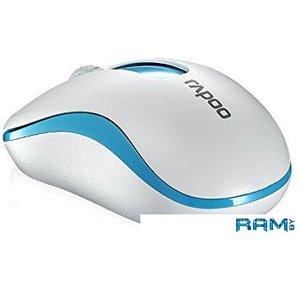 Мышь Rapoo M10+ (белый/синий)