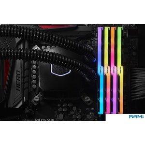 Оперативная память G.Skill Trident Z RGB 4x8Gb DDR4 PC4-25600  (F4-3200C14Q-32GTZRX)