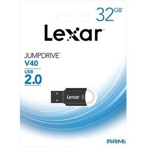 USB Flash Lexar JumpDrive V40 32GB (черный)