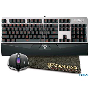 Мышь + клавиатура Gamdias Hermes E1+Demeter E2+Nyx E1