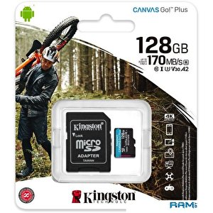 Карта памяти Kingston Canvas Go! Plus microSDXC 128GB (с адаптером)