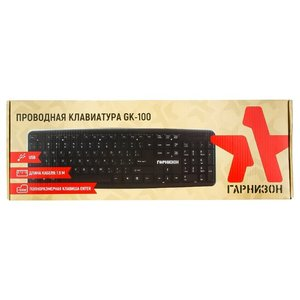 Клавиатура Гарнизон GK-100 Black USB