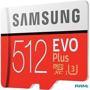 Карта памяти Samsung EVO Plus microSDXC 512GB + адаптер