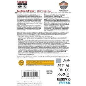 Карта памяти SanDisk Extreme SDXC SDSDXV5-128G-GNCIN 128GB