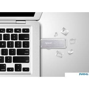 USB Flash Apacer AH33A 16GB (серебристый)