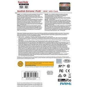 Карта памяти SanDisk Extreme PLUS SDSDXW6-064G-GNCIN SDXC 64GB