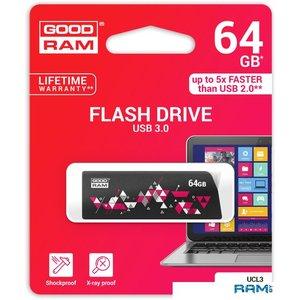 USB Flash GOODRAM UCL3 64GB [UCL3-0640K0R11]