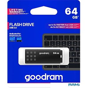 USB Flash GOODRAM UME3 64GB (черный)