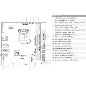Материнская плата ASRock H410M-ITX/ac