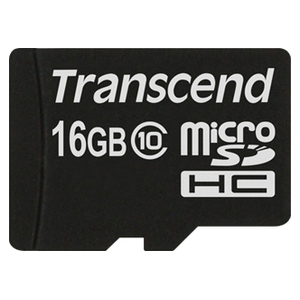 Карта памяти Transcend microSDHC (Class 10) 16GB (TS16GUSDC10)